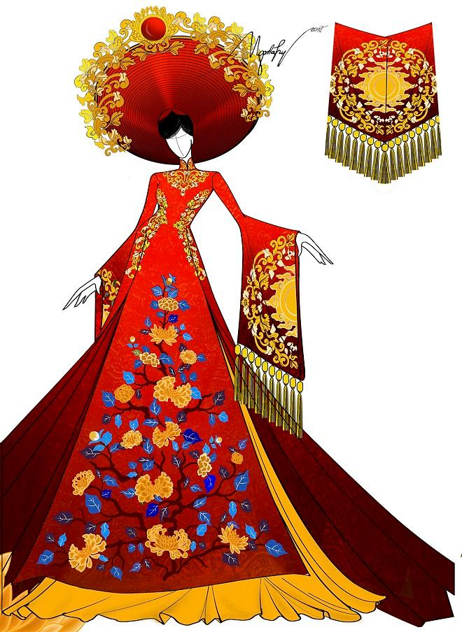 Cận cảnh từng chi tiết trang phục dân tộc Huyền My sẽ trình diễn tại Miss Grand International 2017-4