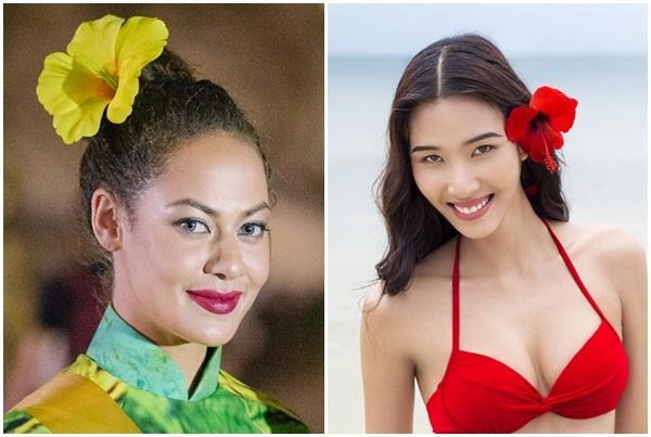 Mặc áo dài và cài dâm bụt giống Hoàng Thùy, người đẹp Fiji sáng nhất Miss Grand 2017-3