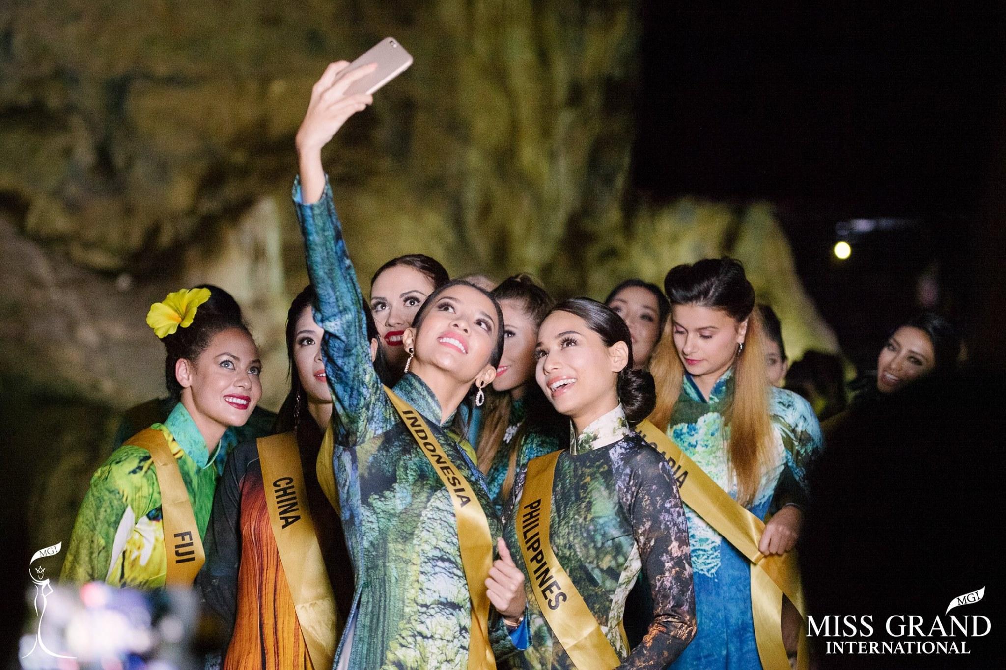 Mặc áo dài và cài dâm bụt giống Hoàng Thùy, người đẹp Fiji sáng nhất Miss Grand 2017-5