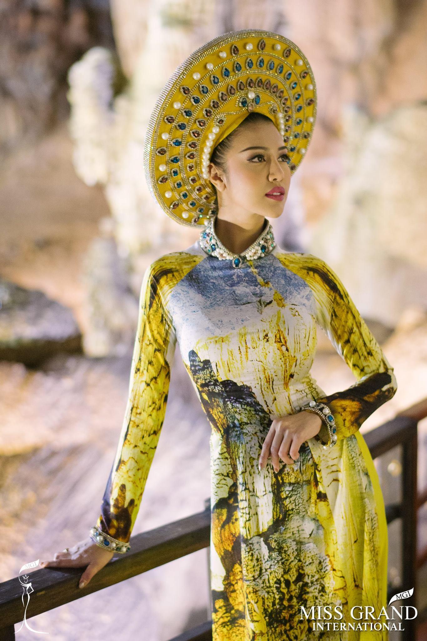 Mặc áo dài và cài dâm bụt giống Hoàng Thùy, người đẹp Fiji sáng nhất Miss Grand 2017-7