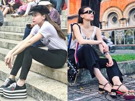 Hồ Ngọc Hà soán ngôi street style tuần này với bộ sưu tập giầy 'thần thánh'