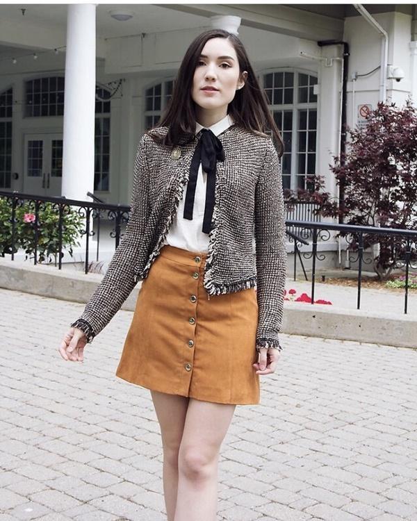 Mặc đẹp miễn chê với mọi loại chân váy mùa thu đông-2
