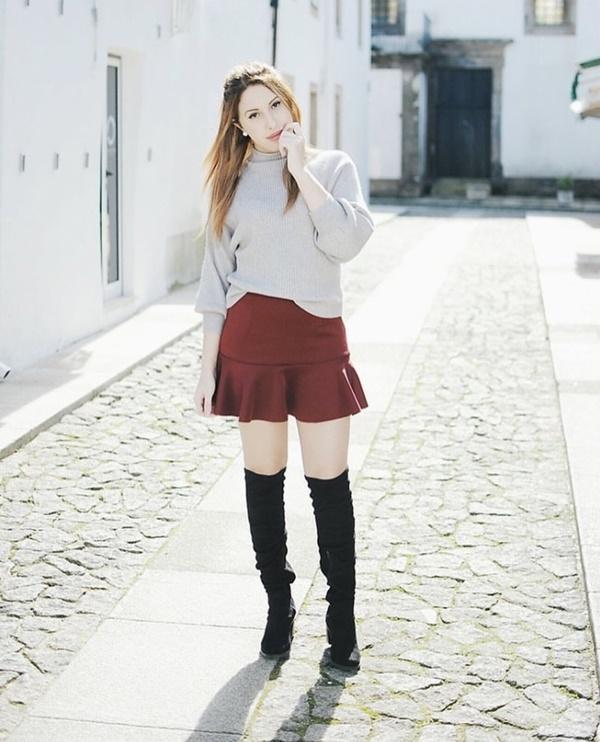 Mặc đẹp miễn chê với mọi loại chân váy mùa thu đông-4