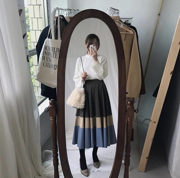 Mặc đẹp miễn chê với mọi loại chân váy mùa thu đông-8