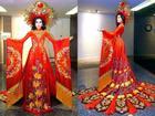 Trang phục dân tộc của Á hậu Huyền My ở Miss Grand International 2017 gây tranh cãi