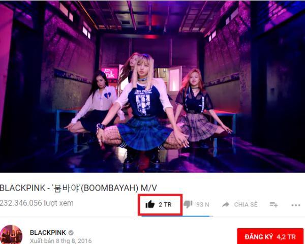Boombayah đạt 2 triệu lượt yêu thích, BlackPink thiết lập kỷ lục mới trên Youtube-1