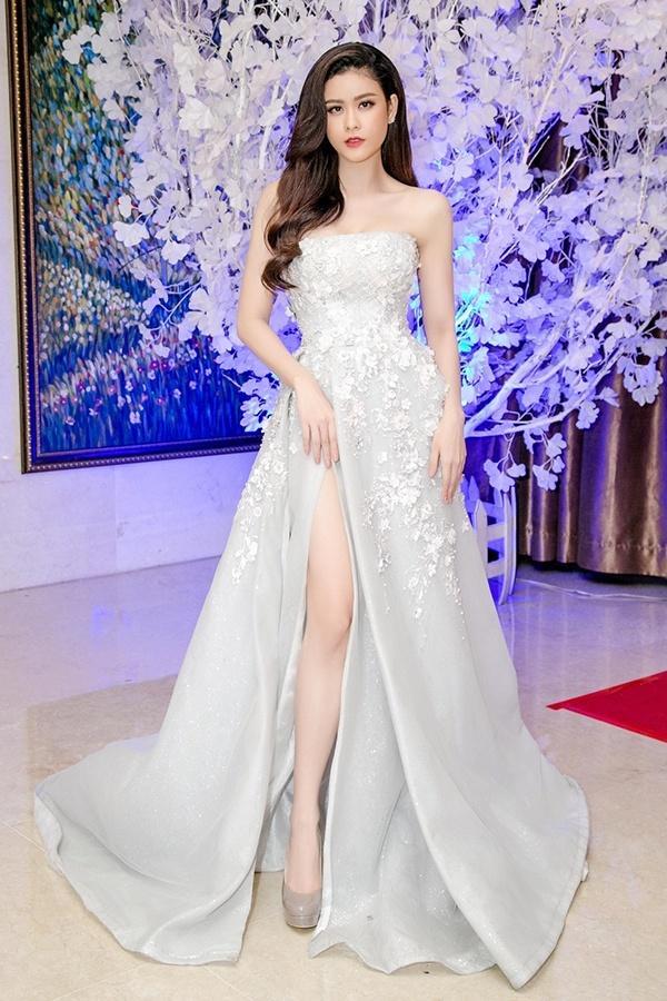Huyền My đứng top mặc đẹp nhất thảm đỏ với váy vàng lộng lẫy tại Miss Grand International 2017-11