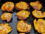 Thơm phức cực ngon món khoai lang nướng phô mai