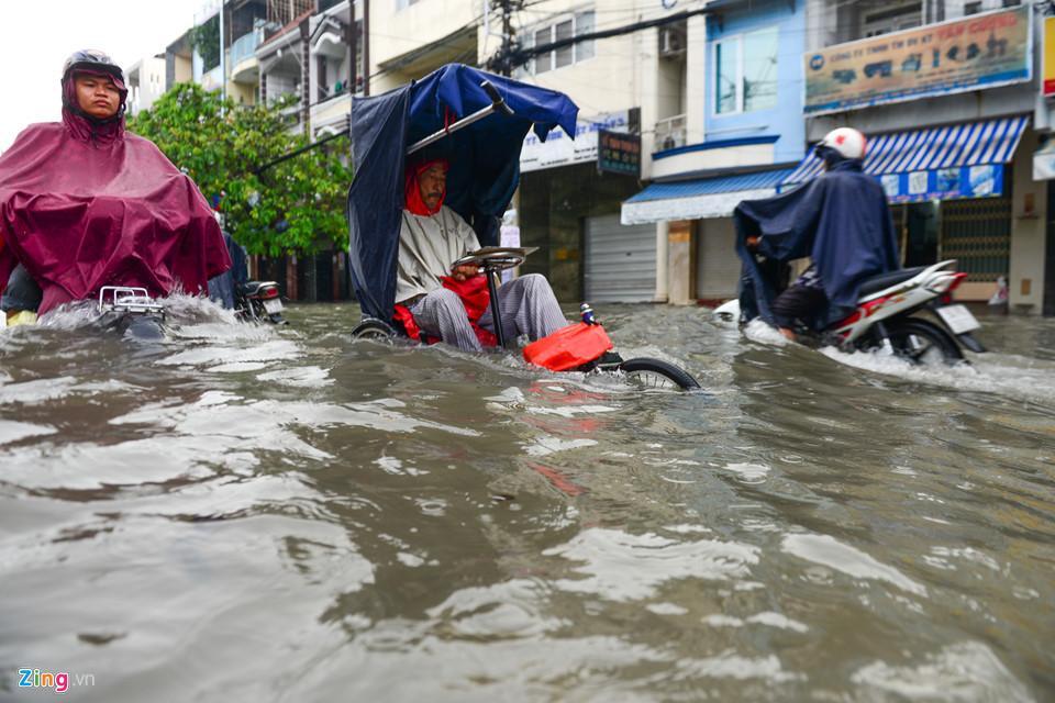 Người Sài Gòn ra đường bắt cá sau trận mưa lớn suốt đêm-6