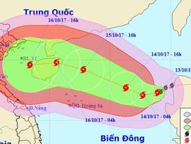 Sức gió của bão số 11 có thể mạnh tới 150 km/h