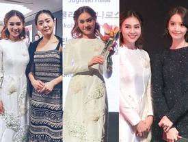 Ninh Dương Lan Ngọc đoạt Gương mặt châu Á tại LHP Busan, nhan sắc lấn át Yoona và Moon Geun Young