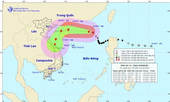 Tin bão số 11: Đảo Bạch Long Vĩ đang có gió giật cấp 7, nhiều kịch bản được đưa ra-1