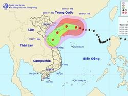 Bão số 11 di chuyển nhanh, Bắc Bộ và Bắc Trung Bộ sắp mưa to