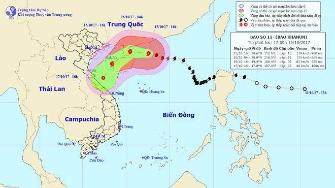 Bão số 11 di chuyển nhanh, Bắc Bộ và Bắc Trung Bộ sắp mưa to-1