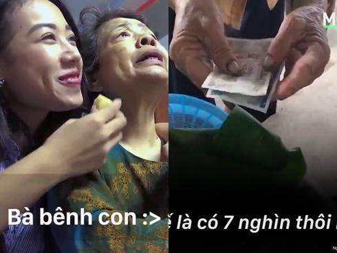 Bà cụ bán một mớ rau giá 3 triệu đồng và chuyện xúc động đằng sau