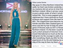 Thí sinh Bắc Ireland bị chê trang phục dân tộc xấu chỉ vì... 'ship' đồ sang Việt Nam không kịp