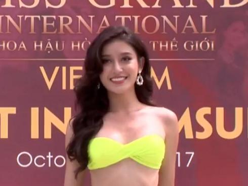 Chỉ cần đánh hông thêm chút nữa, Huyền My chắc chắn sáng nhất màn diễn bikini tại Hoa hậu Hòa Bình 2017