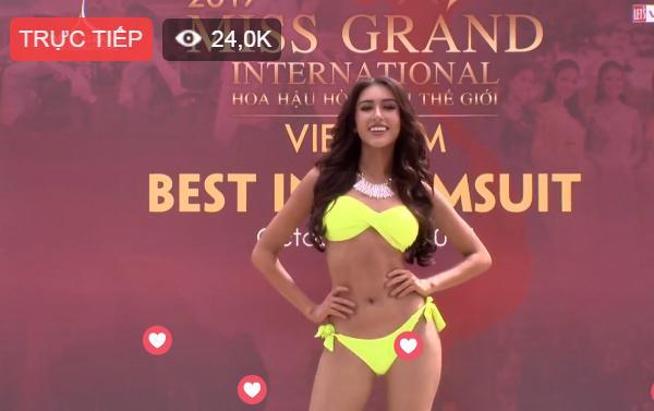 Chỉ cần đánh hông thêm chút nữa, Huyền My chắc chắn sáng nhất màn diễn bikini tại Hoa hậu Hòa Bình 2017-9