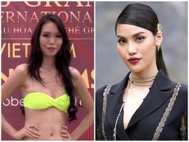 Liên tiếp hài hước, 'Lan Khuê phiên bản lỗi' trình diễn bikini như sắp ngã tại Hoa hậu Hòa Bình 2017