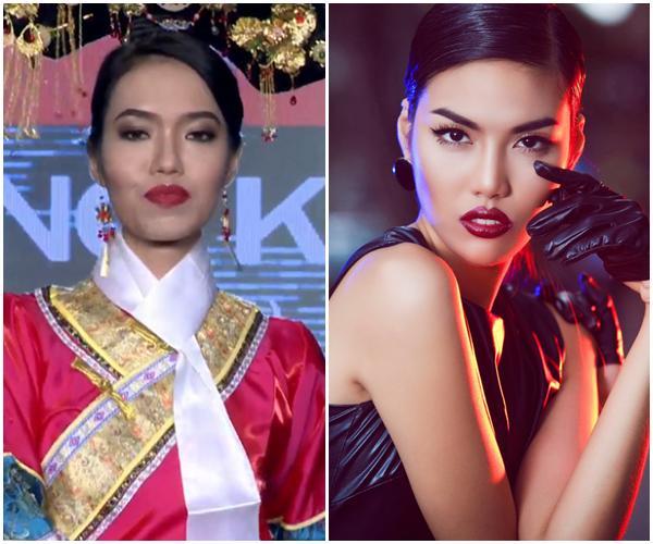 Liên tiếp hài hước, Lan Khuê phiên bản lỗi trình diễn bikini như sắp ngã tại Hoa hậu Hòa Bình 2017-7