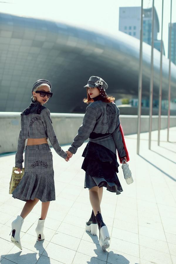 Lan Ngọc mang giày khủng cùng set đồ hơn 100 triệu ở Seoul Fashion Week-6