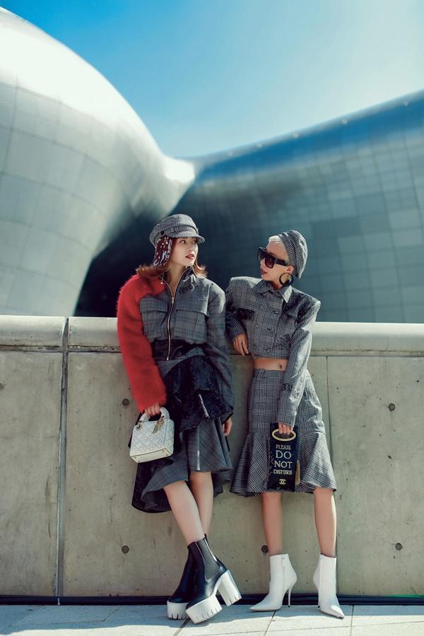 Lan Ngọc mang giày khủng cùng set đồ hơn 100 triệu ở Seoul Fashion Week-7