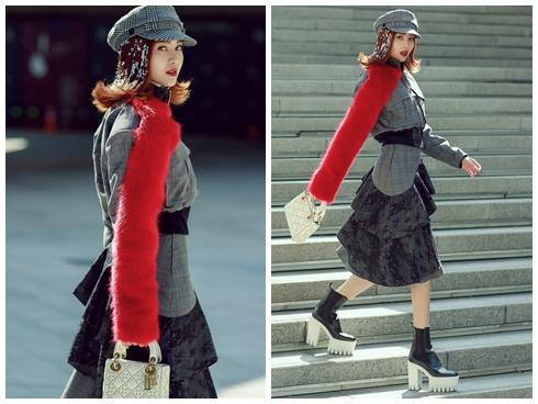 Lan Ngọc mang giày 'khủng' cùng set đồ hơn 100 triệu ở Seoul Fashion Week