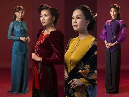 Đọc vị tính cách của 4 người phụ nữ trong 'Mẹ chồng' thông qua áo bà ba