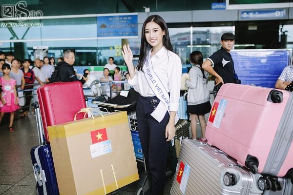 Hoa hậu Đỗ Mỹ Linh chính thức lên đường chinh phục Miss World 2017-2