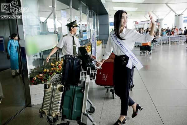Hoa hậu Đỗ Mỹ Linh chính thức lên đường chinh phục Miss World 2017-11