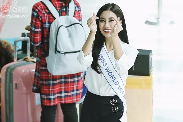 Hoa hậu Đỗ Mỹ Linh chính thức lên đường chinh phục Miss World 2017-12