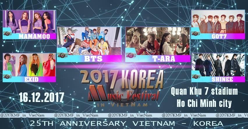 Rộ tin BTS, T-ara, GOT7 cùng dàn sao Kpop đến Việt Nam vào tháng 12-1