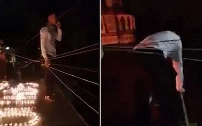 Thót tim cảnh chàng trai Hà Nội bắc thang trèo vào nhà người yêu cầu hôn lúc 1h sáng-1