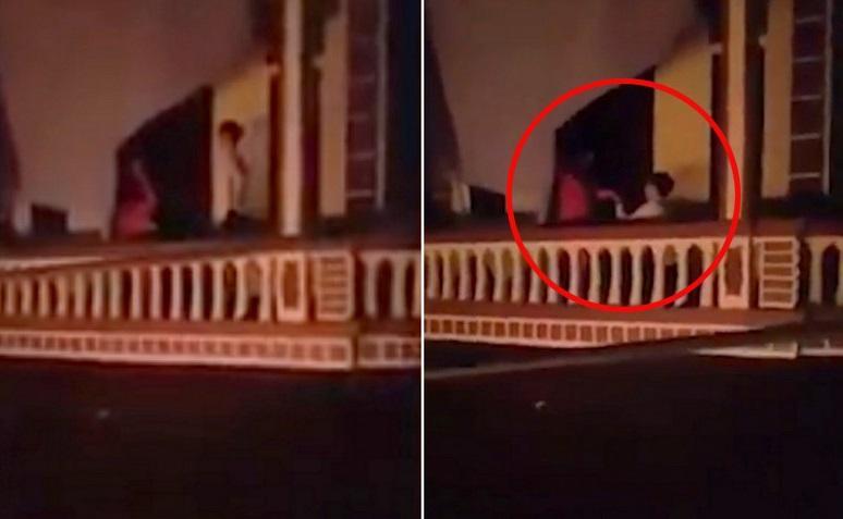 Thót tim cảnh chàng trai Hà Nội bắc thang trèo vào nhà người yêu cầu hôn lúc 1h sáng-2