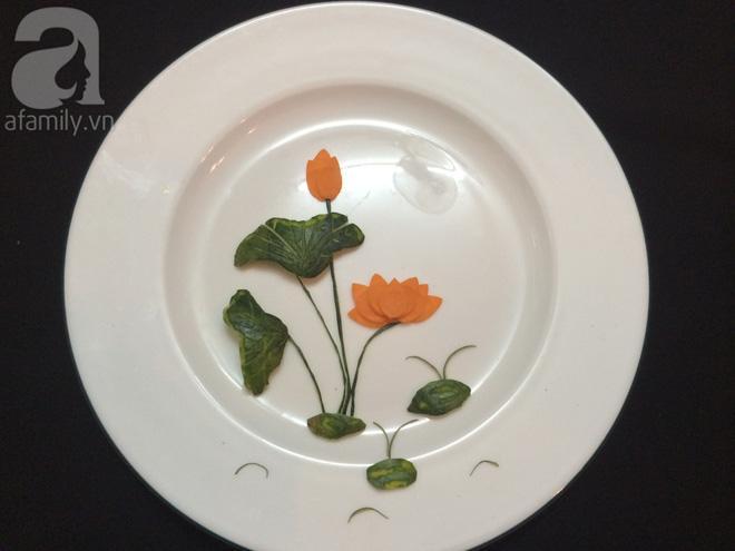 5 cách trang trí đĩa ăn siêu đẹp theo chủ đề hoa lá-3