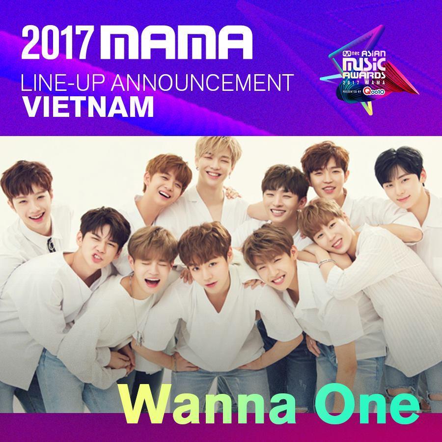 WANNA ONE là nghệ sỹ đầu tiên được Mnet xác nhận biểu diễn tại MAMA 2017 ở Việt Nam!-1