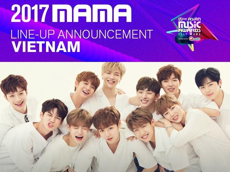 WANNA ONE là nghệ sỹ đầu tiên được Mnet xác nhận biểu diễn tại MAMA 2017 ở Việt Nam!