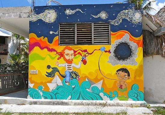 Hòn đảo nhiều màu sắc với những bức bích họa ấn tượng-4