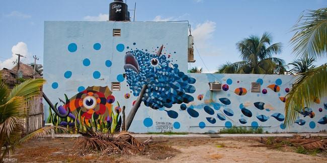 Hòn đảo nhiều màu sắc với những bức bích họa ấn tượng-6