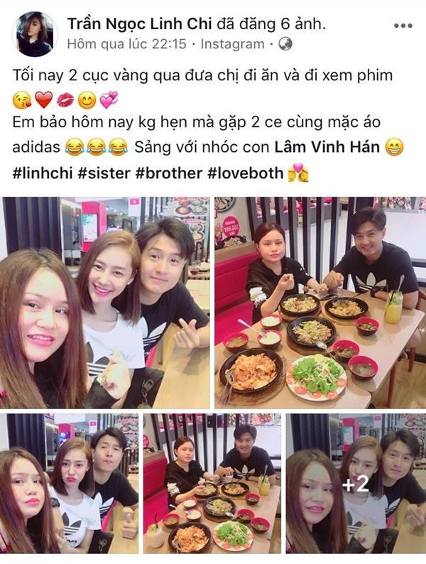 Hậu chia tay người yêu, Linh Chi tung tăng cùng em trai Lâm Vinh Hải-2