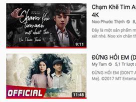 Noo Phước Thịnh chính thức vượt mặt Mỹ Tâm trên YouTube