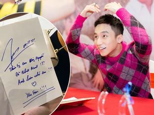 Chị gái cậu bé ung thư xin chữ ký tự truyện Sơn Tùng về đặt lên bàn thờ em trai