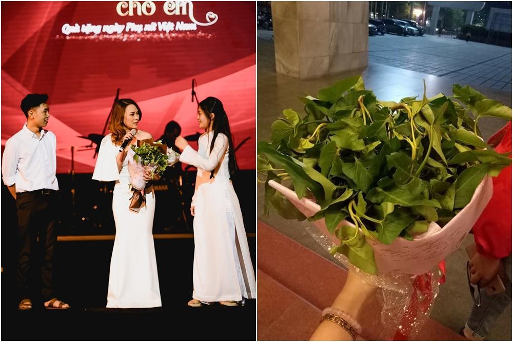 Mỹ Tâm bất ngờ được tặng hoa rau muống từ fan sau khi hát hit triệu views-5
