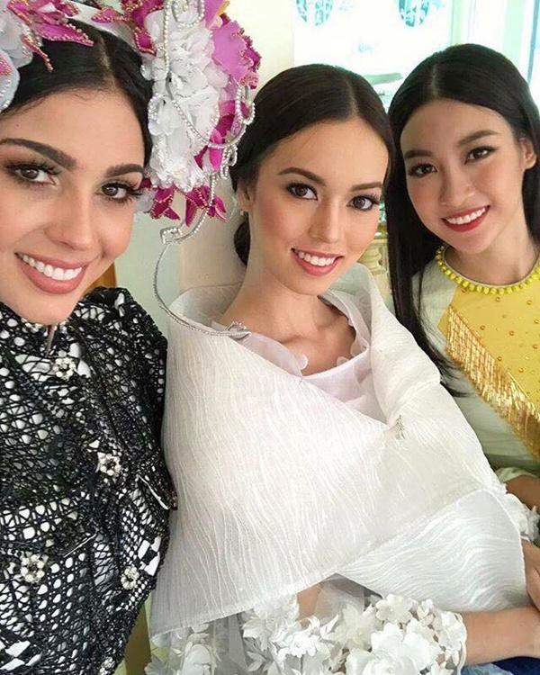 Hoa hậu Đỗ Mỹ Linh đẹp rạng rỡ bên các thí sinh Miss World 2017-1
