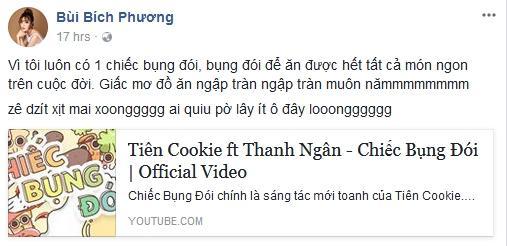 Bích Phương lộ rõ tính tham ăn sau khi nghe Chiếc bụng đói của Tiên Cookie-4