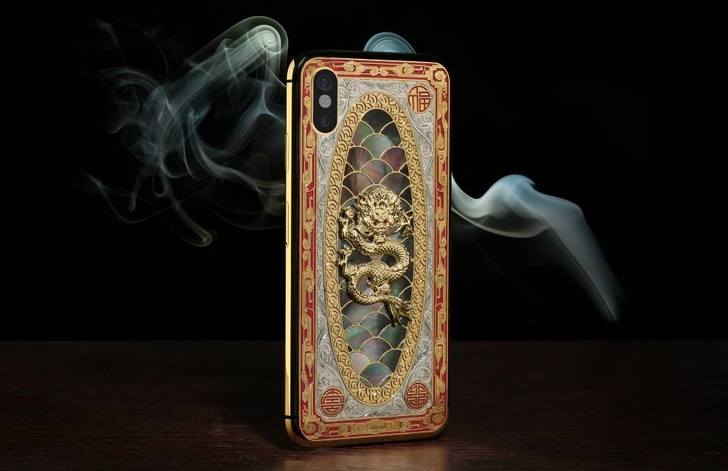 iPhone X mạ vàng khảm xà cừ giá trăm triệu, thú chơi của giới siêu giàu-2