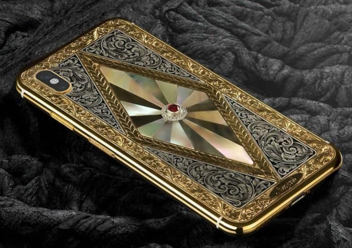 iPhone X mạ vàng khảm xà cừ giá trăm triệu, thú chơi của giới siêu giàu-3