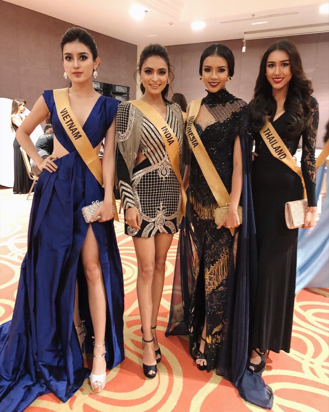 Hội chị em bạn dì của Huyền My có khả năng dắt tay nhau vào top 5 Miss Grand 2017-1