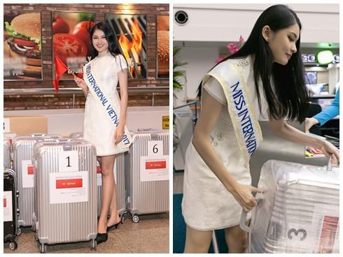 Á hậu Thùy Dung mang gần 140kg hành lý sang Nhật dự thi Miss International