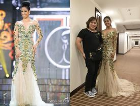 Nhà thiết kế Việt tiết lộ chiếc váy 'bỗng dưng bị rách' của Hoa hậu Cu Ba tại Miss Grand International 2017